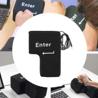 Desktop Notebook USB Port Big Enter Key Shape Stress Relief Gadget Pillow