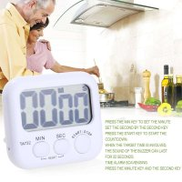 LED Digital Electric Kitchen Countdown Magnetic Timer Back Stand Cooking Timer Count UP Alarm Clock Gadgets Cooking Tools